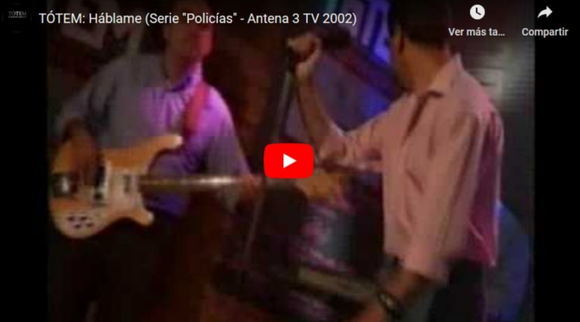 Tótem en la Serie Policías de Antena 3 TV