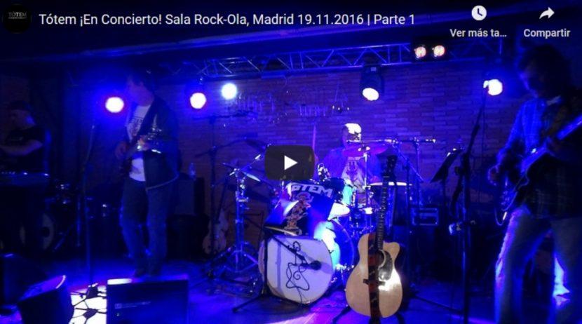 Tótem, En Concierto, Sala Rock-Ola, Madrid